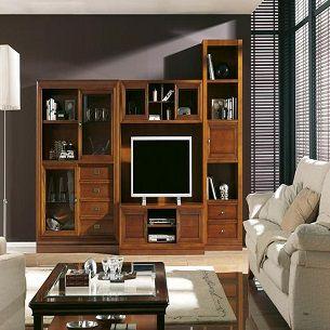 Composici n modular sal n cl sico muebles belhome muebles en granada - Muebles salon granada ...