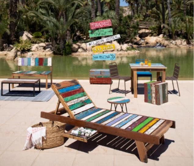 ambiente jardin colorido - Cómo decorar porches y terrazas - noticias, blog | Muebles en Granada