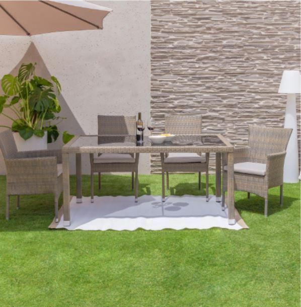 mesa y sillas jardin - Cómo decorar porches y terrazas - noticias, blog | Muebles en Granada