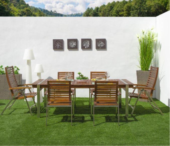 mesa y sillas madera - Cómo decorar porches y terrazas - noticias, blog | Muebles en Granada