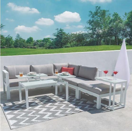 rinconera blanca - Cómo decorar porches y terrazas - noticias, blog | Muebles en Granada