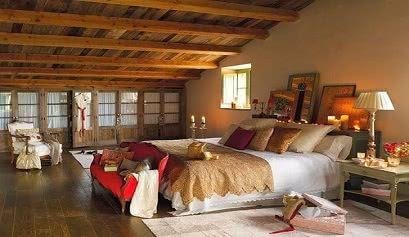 Decoraci n de estilo r stico contempor neo - Dormitorio rustico moderno ...