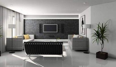 salon moderne gris 560x353 - Salones de estilo minimalista i - noticias, blog | Muebles en Granada