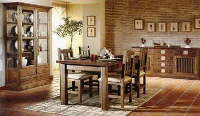 Ideas para la decoraci n de salones r sticos muebles belhome - Salones antiguos ...
