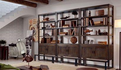 Decoraci n de estilo industrial muebles belhome for Libreria estilo industrial
