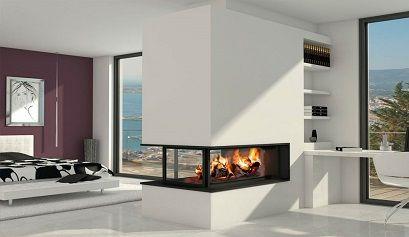 Decoraci n de salones modernos con chimenea muebles for Salones modernos con chimenea