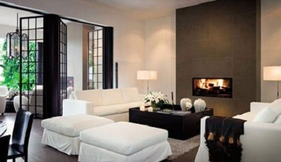 Decoraci n de salones modernos con chimenea muebles - Decoracion salon moderno ...