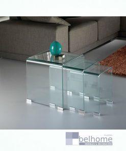 Mesa de rincón nido Glass