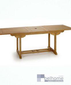 Mesa de jardín extensible
