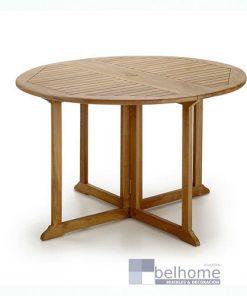 Mesa de jardín redonda plegable