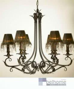 Lampara Hojas 6 luces