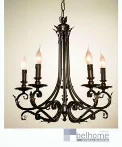 Lámpara Hojas 5 luces