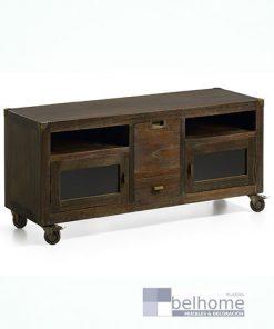 Mueble TV industrial con 2 cajones