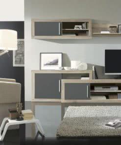 Apilable SENA 03 cerrado Roble pizarra 247x296 - Composición comedor - muebles-tv | Muebles en Granada