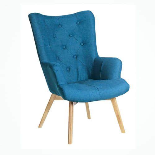 butaca azul - Butaca patas de madera - sillones, nuestras-ofertas | Muebles en Granada