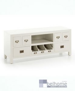 Mueble tv new white 4 cajones