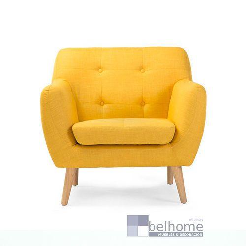 sillon nordic vintage amarillo - Sillon nordic vintage - sillones | Muebles en Granada
