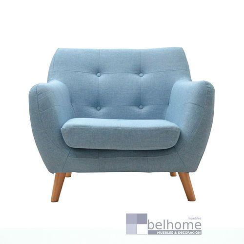 sillon nordic vintage azul claro - Sillon nordic vintage - sillones | Muebles en Granada