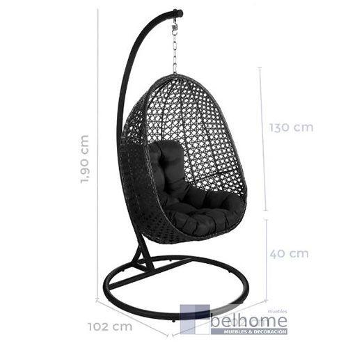 sillon dido colgante negro - Sillón colgante Dido - sillon, novedades | Muebles en Granada