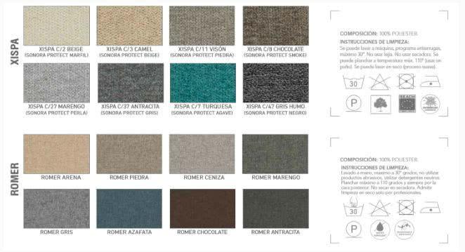 colores telas sofa - Sofá cama Vega - sofa-cama, nuestras-ofertas | Muebles en Granada