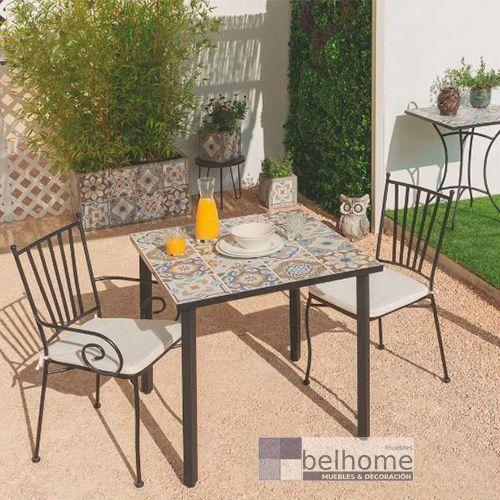mesa cuadrada daphne ambiente - Cómo decorar porches y terrazas - noticias, blog | Muebles en Granada