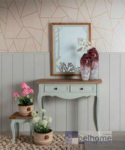 Espejo natural - gris madera/cristal