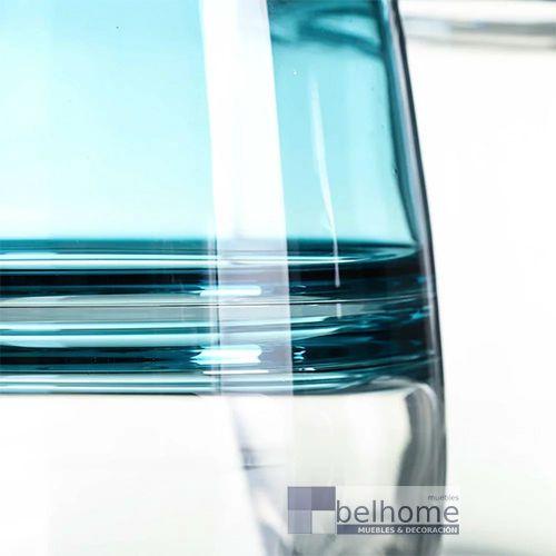 Jarrón azul cristal pequeño