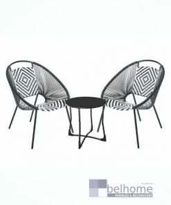 Conjunto tulum 2 sillas + mesa