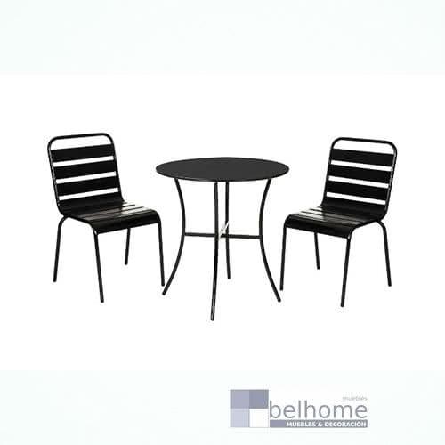 conjunto vega 2 sillas mesa negro mate - Conjunto vega 2 sillas + mesa - novedades | Muebles en Granada