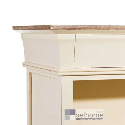 Mueble librero 3 cajones natural - crema