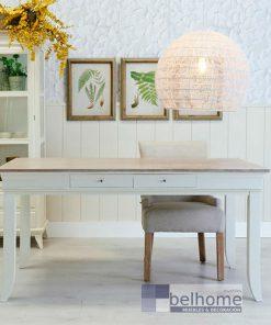 Mesa comedor 4 cajones natural – crema