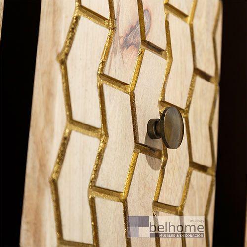 Cómoda natural - oro madera