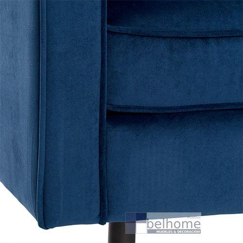 Sofá tres plazas azul