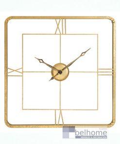 Reloj oro metal cuadrado