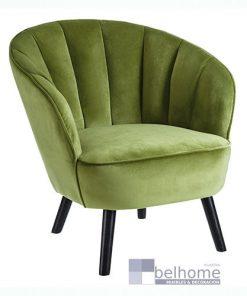 Sillón verde tejido
