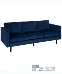 sofá tres plazas terciopelo azul 247x296 - Muebles en Granada -  | Muebles en Granada