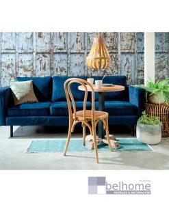 sofá tres plazas terciopelo azul fondo decorado 247x296 - Muebles en Granada -  | Muebles en Granada