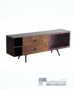 Mueble TV negro cobrizo