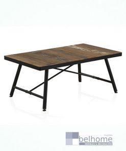 Mesa de centro tapa madera