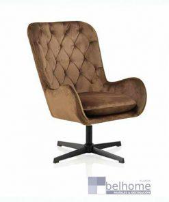 sillón terciopelo giratorio marrón 247x296 - Muebles en Granada -  | Muebles en Granada