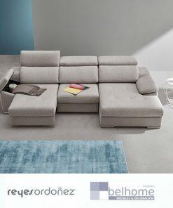 Sofá cosmo chaiselongue semi abierto de reyes ordoñez en habitacion decorada 247x296 - Muebles en Granada -  | Muebles en Granada