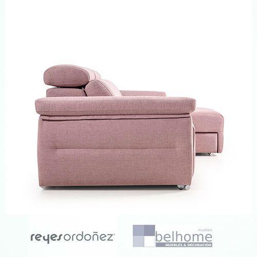 Sofá milano de reyes ordoñez chaiselongue derecha con asientos deslizantes vista de perfil - Sofá Milano - sofas, nuestras-ofertas, chaiselongue | Muebles en Granada