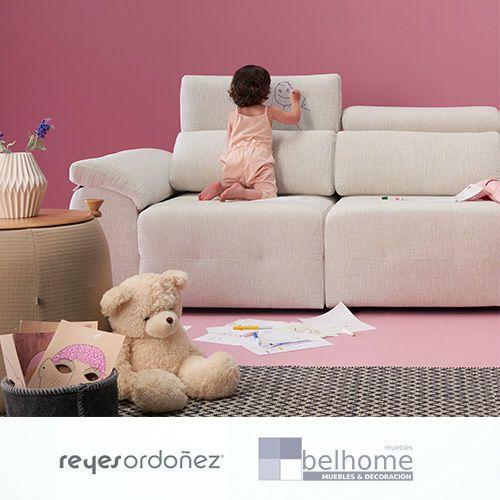 Sofá milano de reyes ordoñez en habitación decorada niña - Sofá Milano - sofas, nuestras-ofertas, chaiselongue | Muebles en Granada
