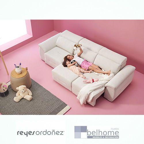 Sofá milano tres plazas deslizantes en habitación decorada reyes ordoñez - Sofá Milano - sofas, nuestras-ofertas, chaiselongue | Muebles en Granada