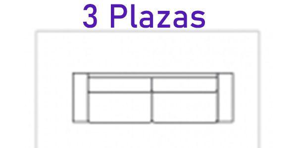 3 plazas