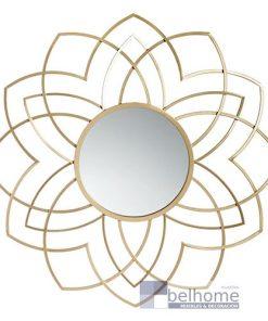Espejo metal dorado