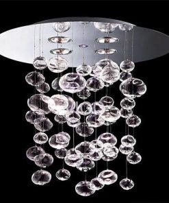 Lámpara ALDRIN, cristal, cromada
