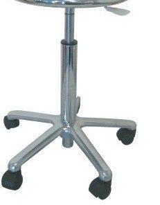 Taburete WORK 17, cromado, gas, asiento de acero pulido