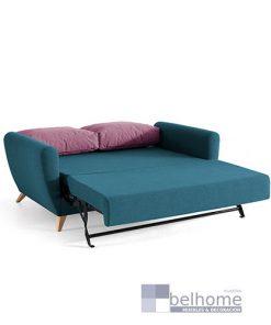 Sofá cama simón abierto francés bañon muebles beltran 247x296 - Muebles en Granada -  | Muebles en Granada
