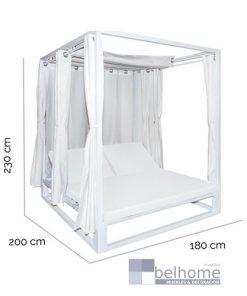 Cama balinesa Luana color blanco